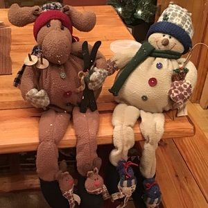 Country snowman and moose!